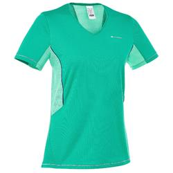 T-Shirt Manches Courtes Randonnée Forclaz 100 Femme Gris Foncé
