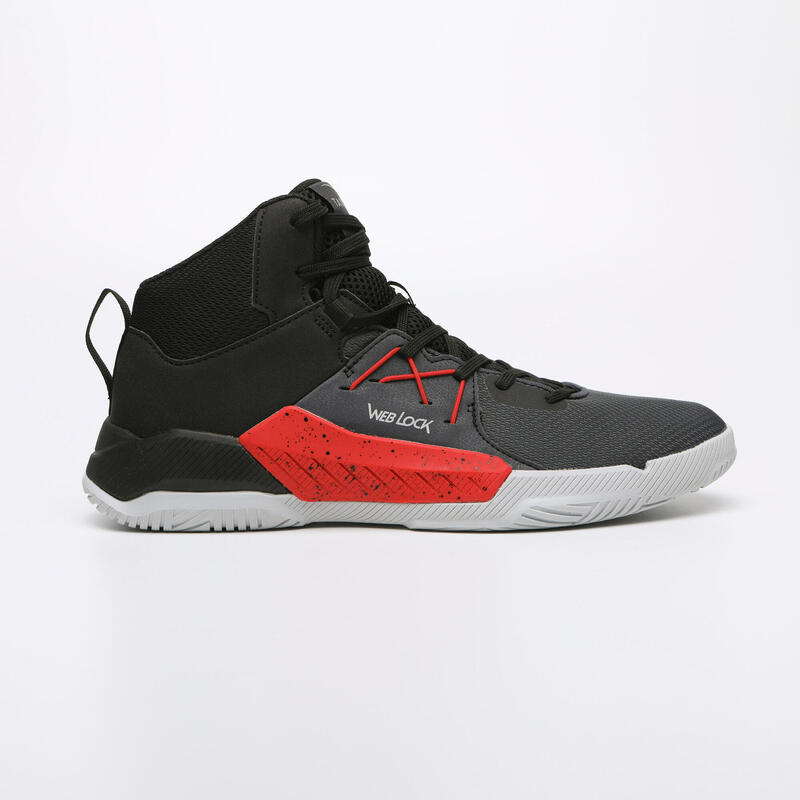 CHAUSSURES BASKETBALL POUR ADULTE H/F DEBUTANT | PROTECT 120 NOIR ROUGE