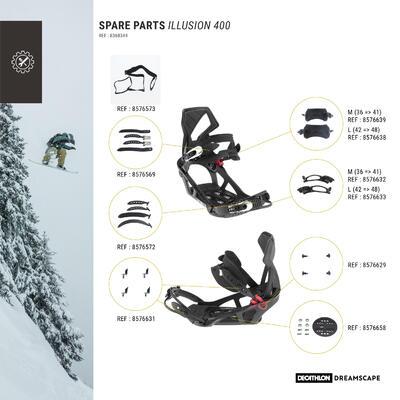 Fijaciones Snowboard, Dreamscape Illusion 400, allmountain, adulto