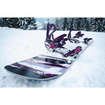 Fixações de Snowboard pista/fora de pista Serenity 100 Mulher Violeta
