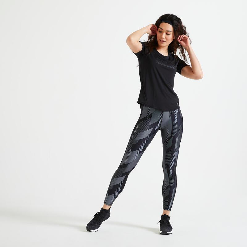 Mallas Leggings Fitness Con Bolsillo Negro