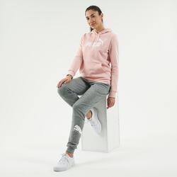 Felpa con cappuccio donna Puma rosa con logo