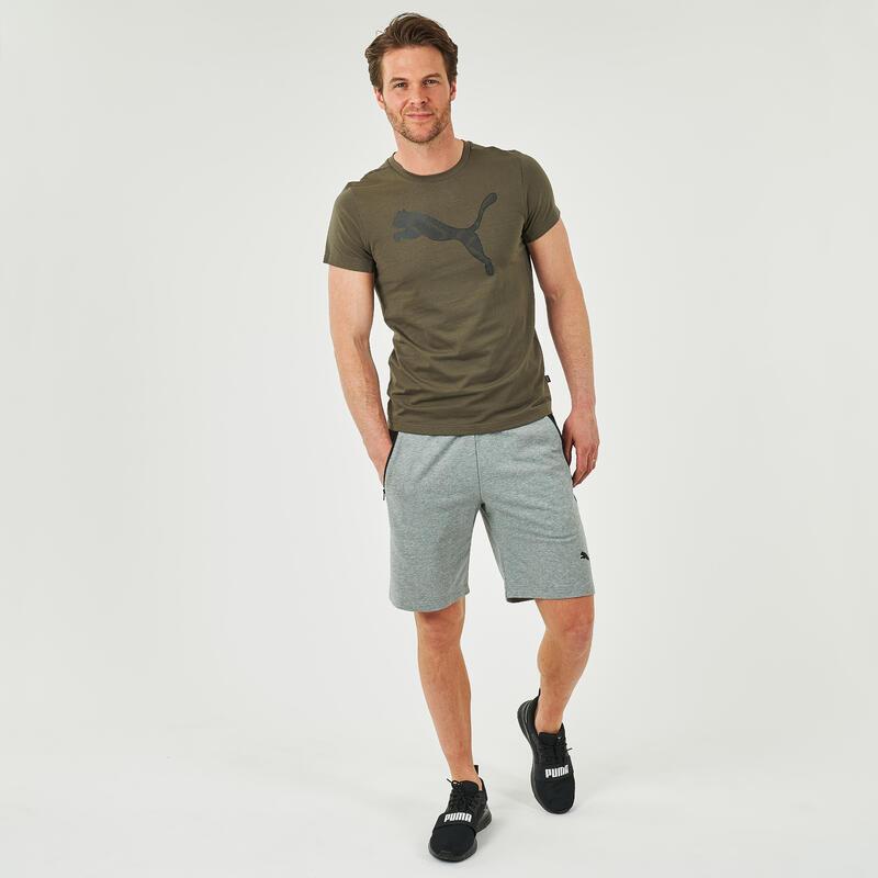 T-shirt voor fitness kaki