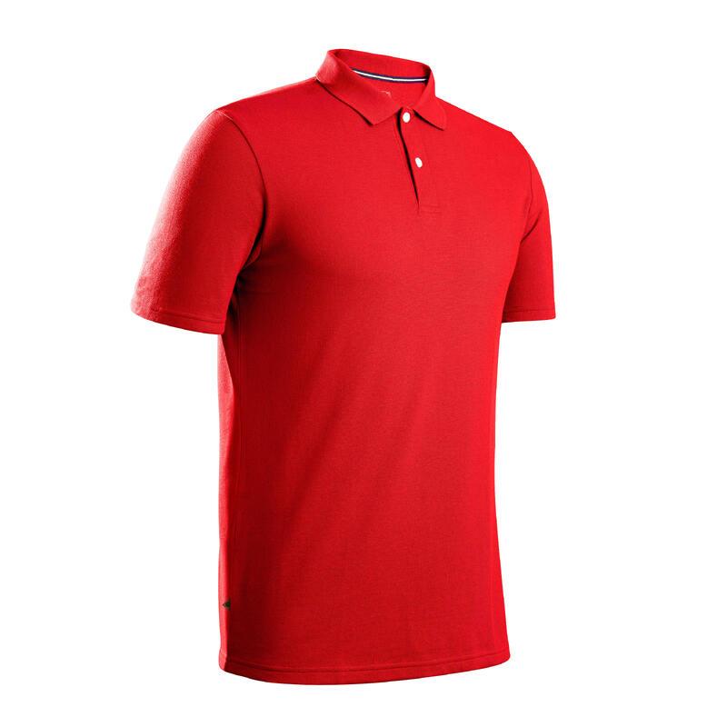 Polo Golf Hombre Rojo Manga Corta