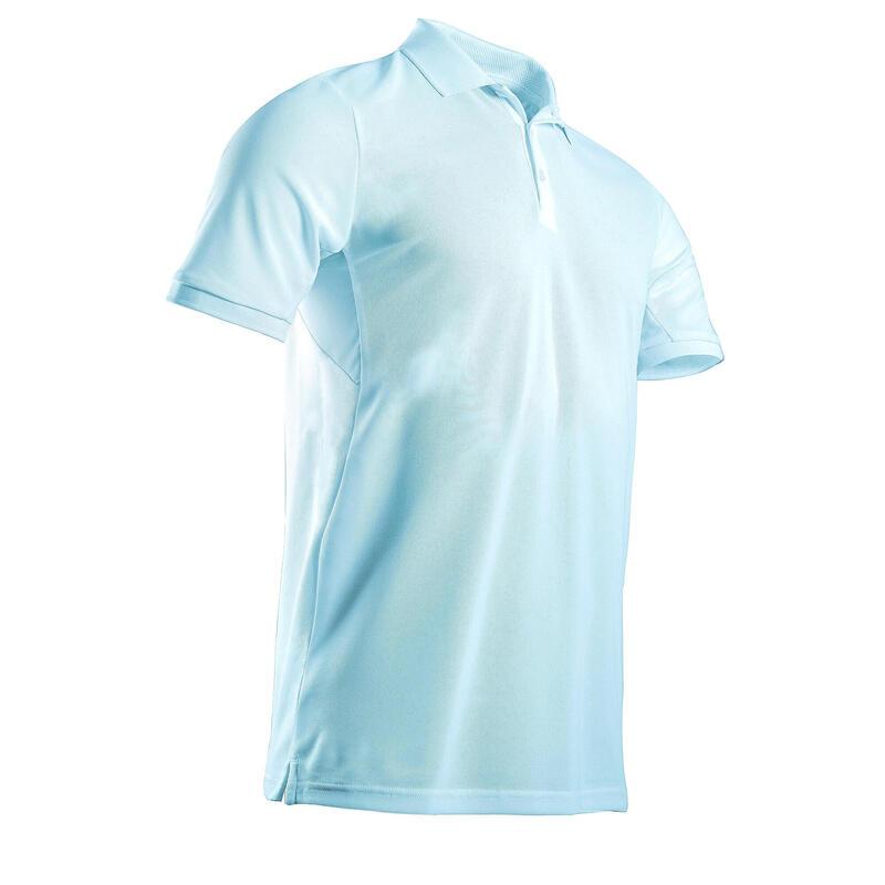 Polo de golf manches courtes homme WW500 bleu clair