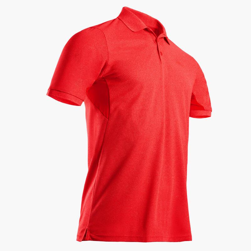 Men's golf short-sleeved polo shirt WW500 bright red