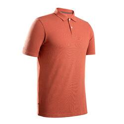 Golf Poloshirt kurzarm MW500 Herren terracotta