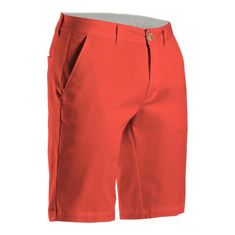 Short de golf homme MW500 rouge corail