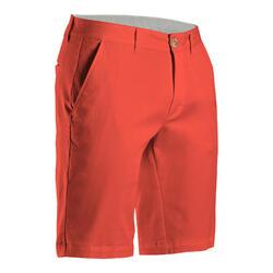 Calções de Golf MW500 Homem Vermelho Coral