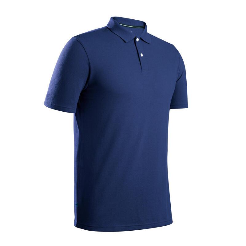 Polo de golf manches courtes homme MW500 bleu
