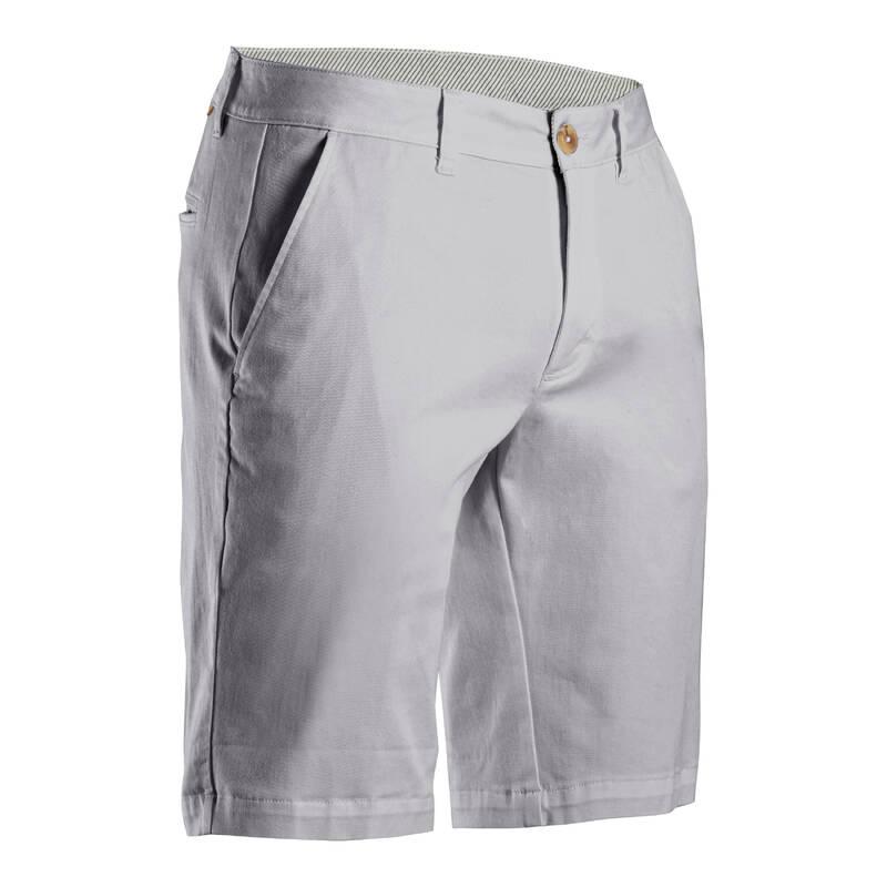 PÁNSKÉ GOLFOVÉ KRAŤASY - MÍRNÉ POČASÍ Golf - PÁNSKÉ KRAŤASY MW500 ŠEDÉ INESIS - Golfové oblečení