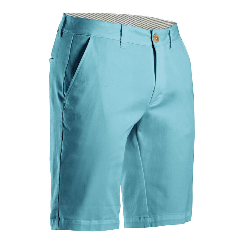 Short de golf homme MW500 turquoise