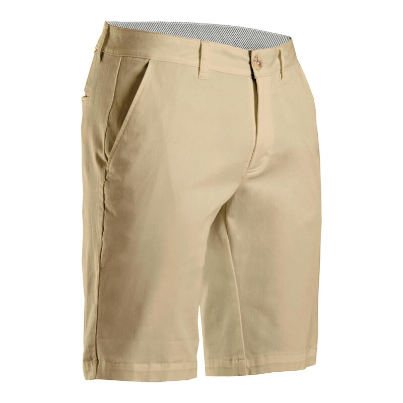 Short de golf homme MW500 beige