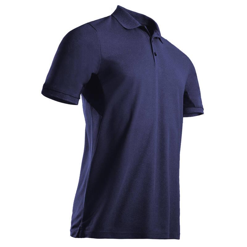 PÁNSKÉ GOLFOVÉ OBLEČENÍ DO TEPLÉHO POČASÍ Golf - GOLFOVÉ POLO WW500 MODRÉ  INESIS - Golfové oblečení