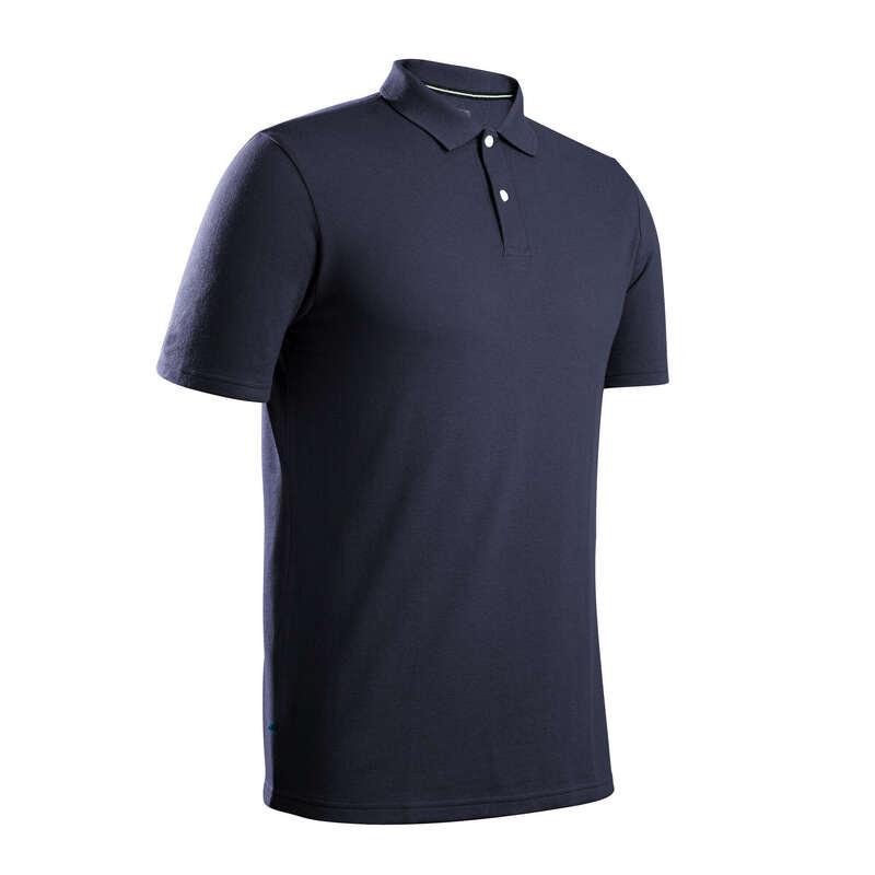 GOLFKLÄDER HERR TEMPERERAT VÄDER Golf - Piké k.ä. MW500 herr marinblå INESIS - Golfkläder och Golfskor