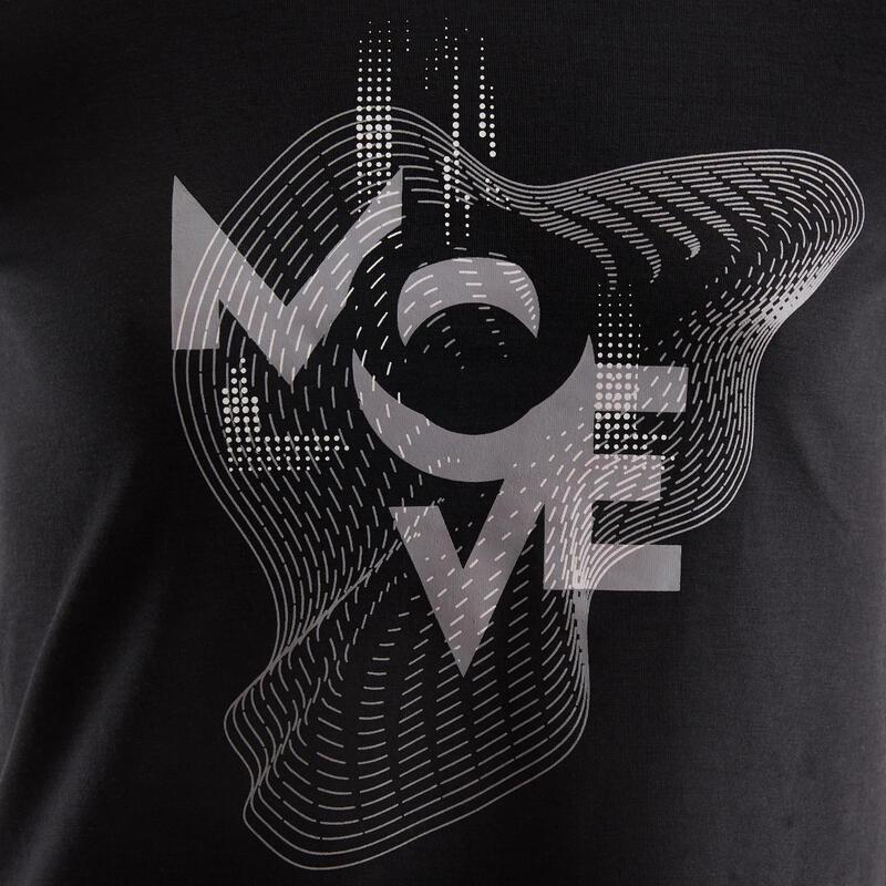 T-shirt respirant imprimé noir fille