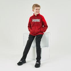 Fato de treino ginástica rapaz vermelho e preto estampado