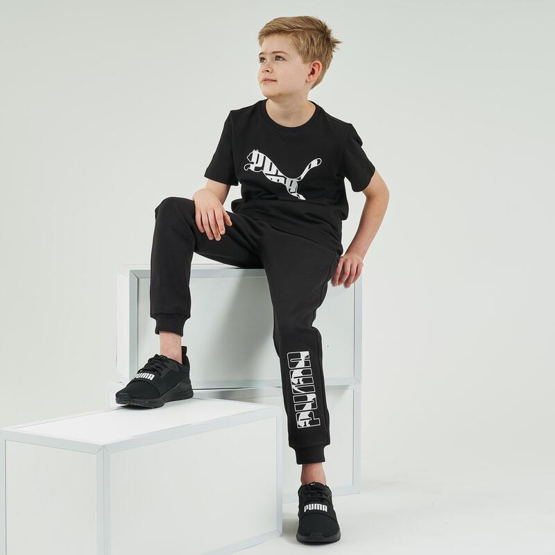 Camiseta PUMA Niño Negra estampado