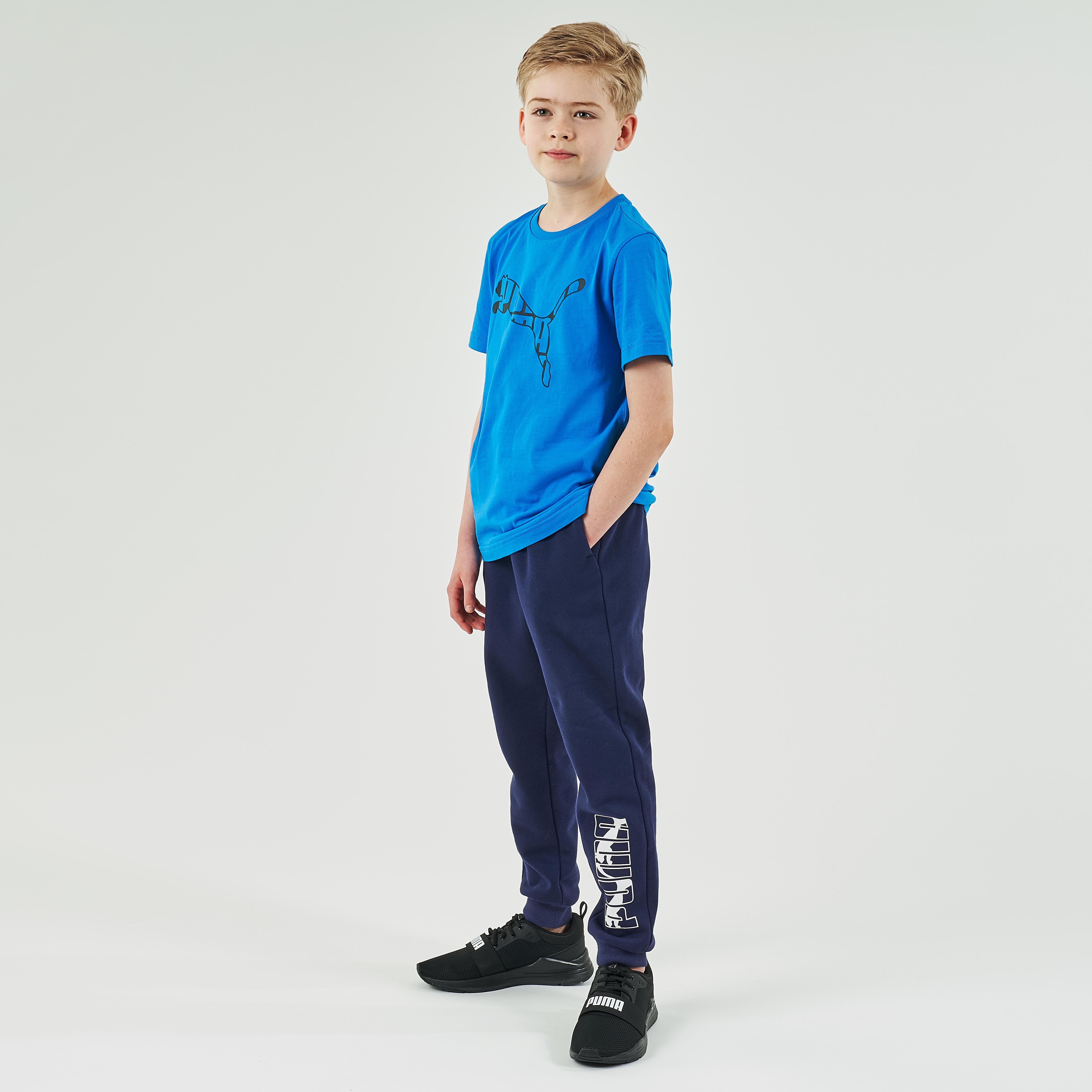 Jogginghose Puma Kinder marineblau mit Print