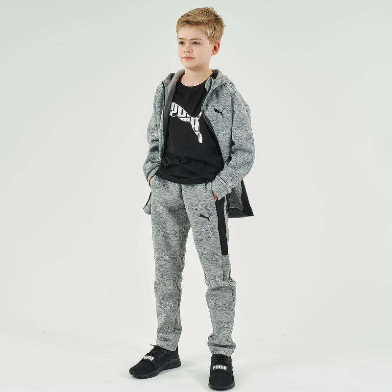 Pantalón PUMA Niño jogger Gris estampado