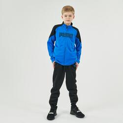 Fato de treino ginástica rapaz azul e preto estampado
