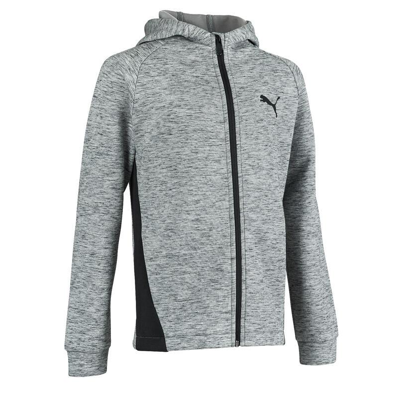 sweat capuche Puma gris garçon imprimé