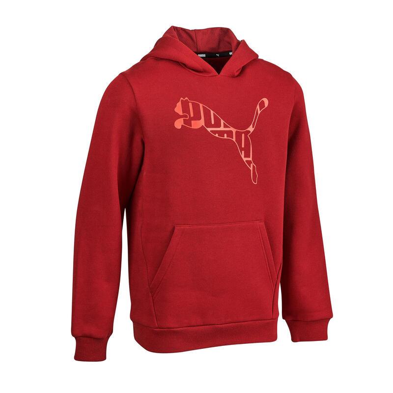 sweat capuche Puma rouge garçon imprimé