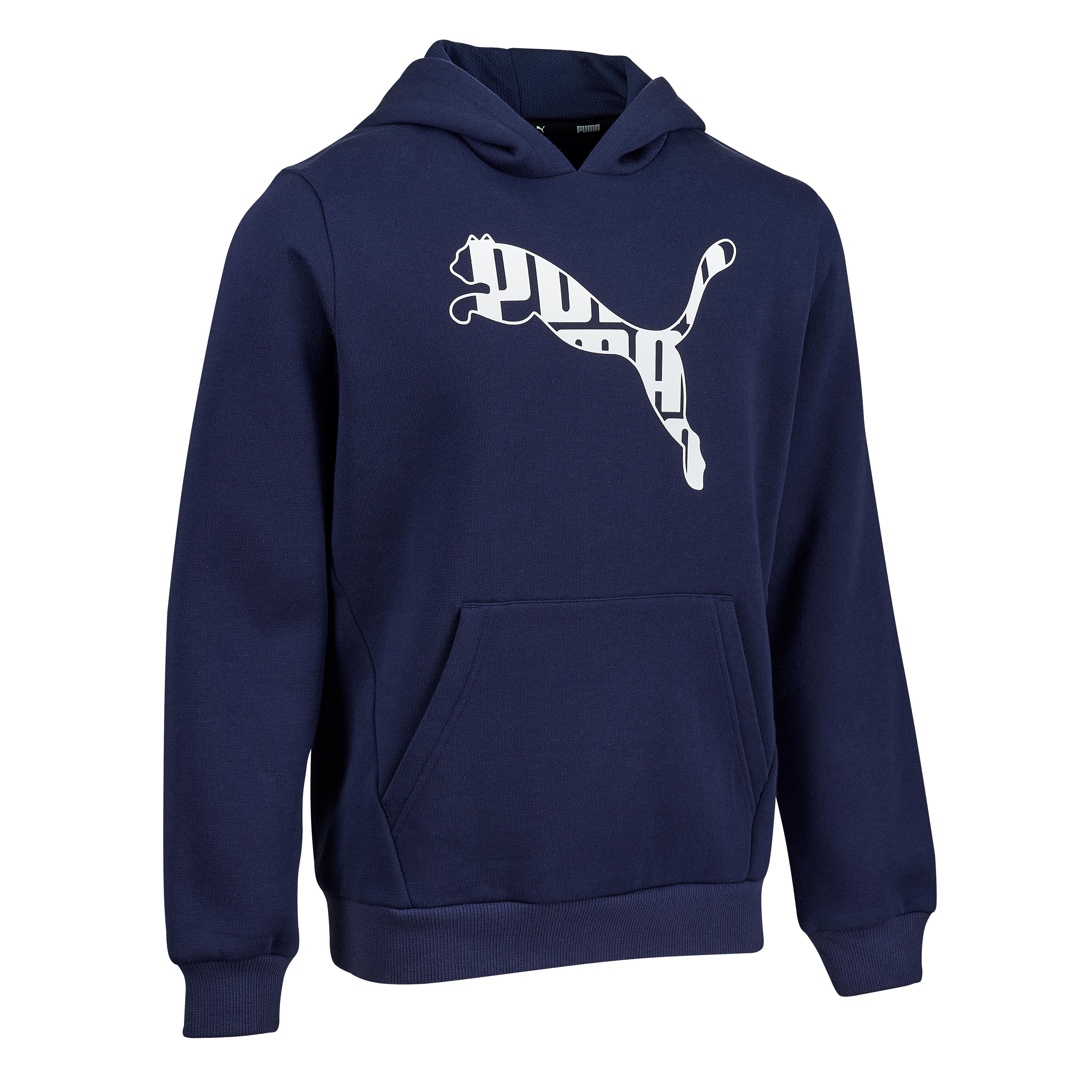 Kapuzenpullover Puma Kinder marineblau mit Print