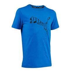 T-shirt de Ginástica Corte Regular Rapaz Azul