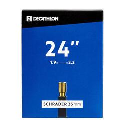 """Fahrradschlauch 24""""×1,9/2,2 Schrader"""