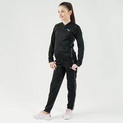 Trainingsanzug Mädchen schwarz/rosa