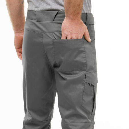 Pantalones de Montaña y Senderismo Verano de Hombre Quechua NH100 Gris
