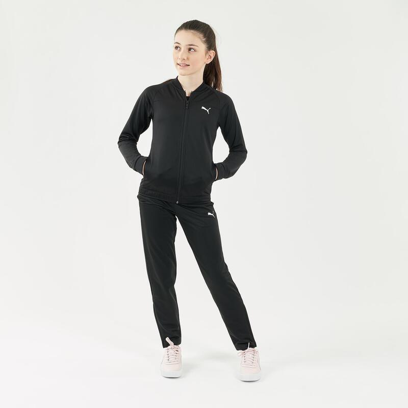 Chándal niña niño Puma gimnasia deportiva negro