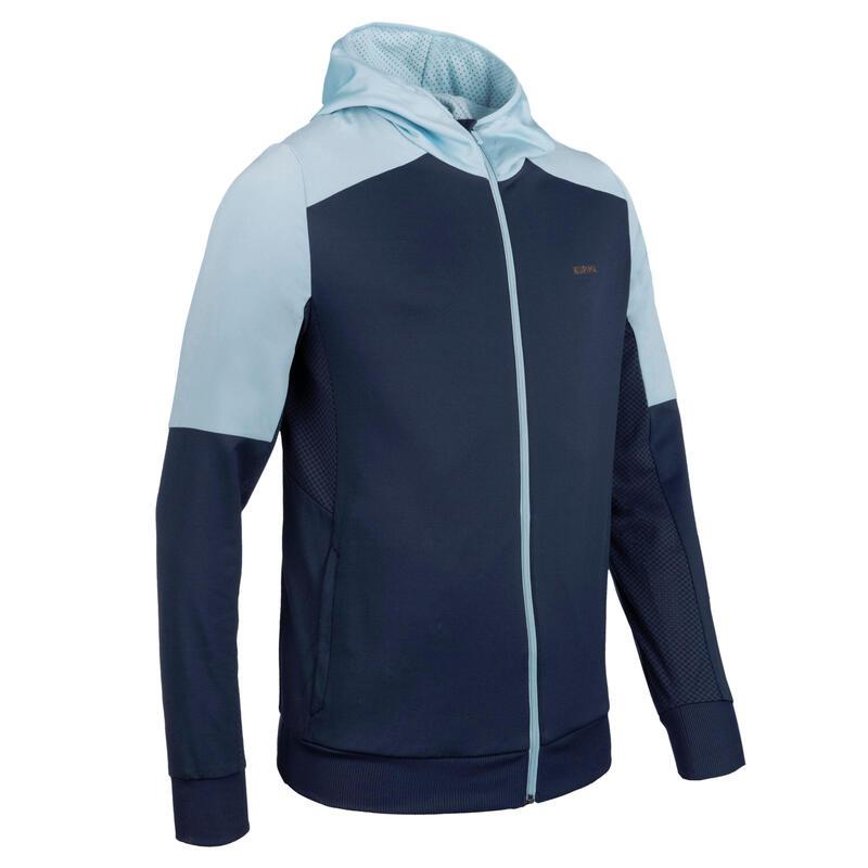 Atletiekjas voor heren Warm blauw