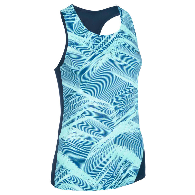 Women's Athletics Tank Top - Blue/Pastel Mint
