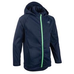 Warme atletiekjas voor kinderen AT 500 marineblauw/groen