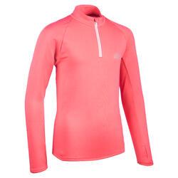 Camisola Quente Meio-Fecho Atletismo Criança AT 100 Rosa