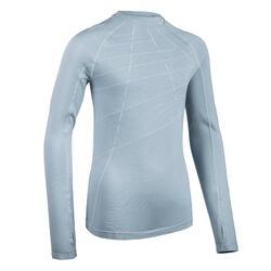 Camisola de Atletismo Criança AT 500 Skincare Cinzento-azulado