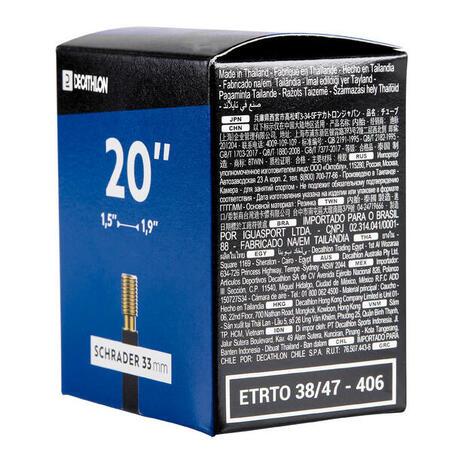 20 x 1.9/2.2 inner tube
