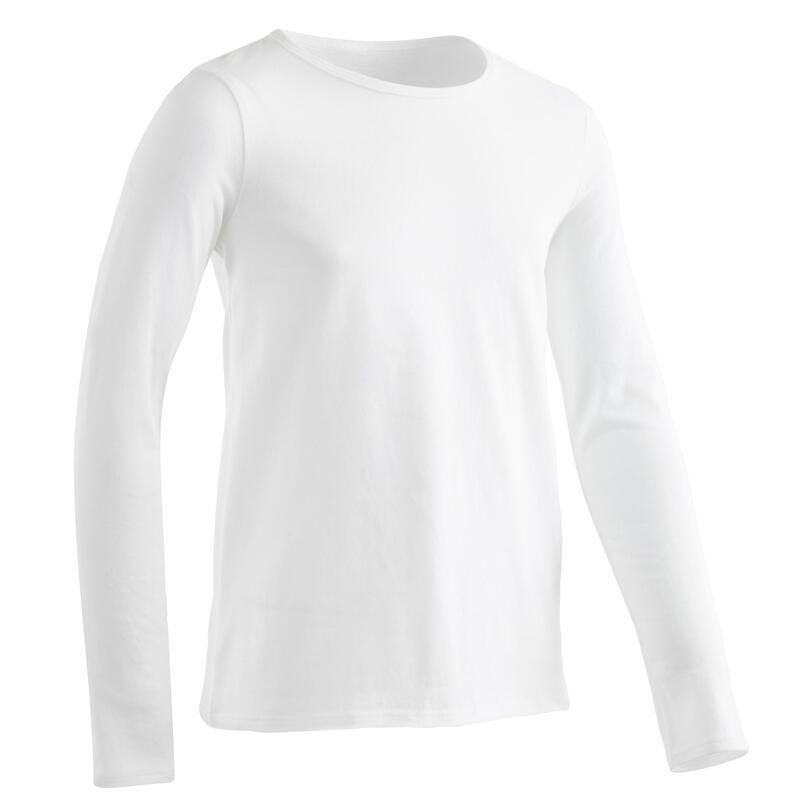 T-Shirt manches longues basique blanc ENFANT