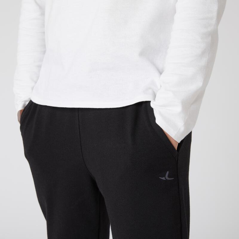 Pantalon de jogging léger slim coton noir enfant