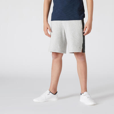 Kids' Breathable Cotton Shorts - Light Grey