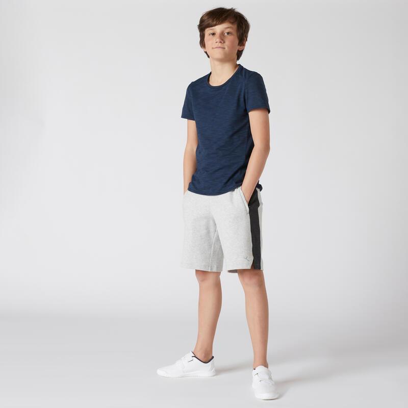 Kids' Breathable Cotton Shorts - Light Grey