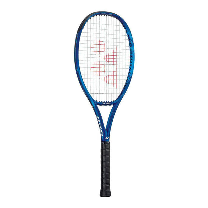 Raquete de ténis adulto EZONE 100 azul sem cordas