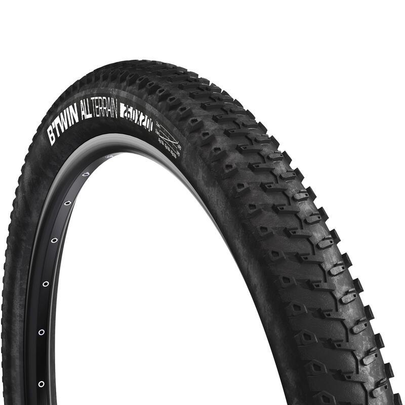 Image of wire bead mountain bike tire 26 x 2