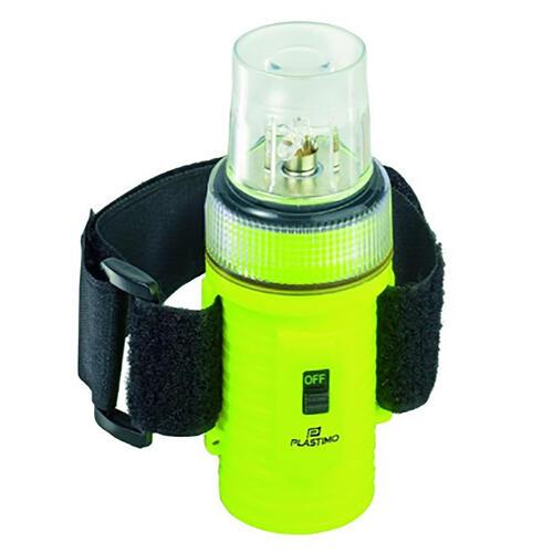 LAMPE FLASH BATEAU 4 LED PLASTIMO FLOTTANTE JAUNE FLUO