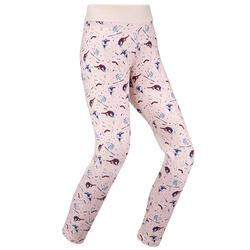 Pantaloni termici sci bambina 500 rosa