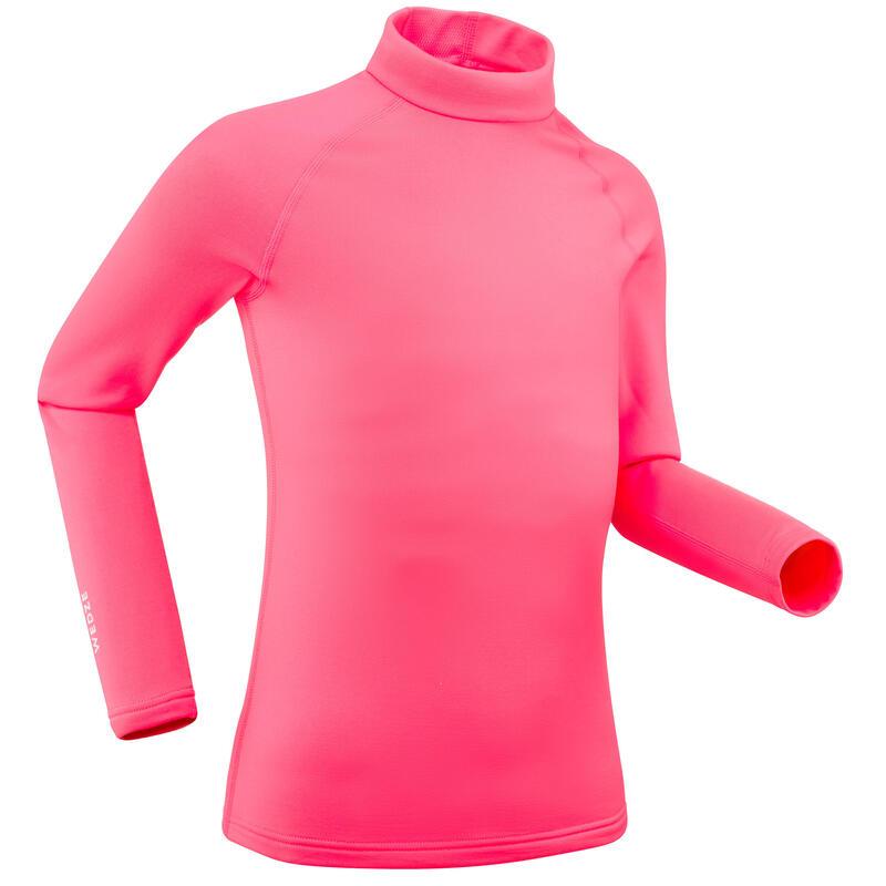 Kids' Ski Base Layer Top 500 Pink
