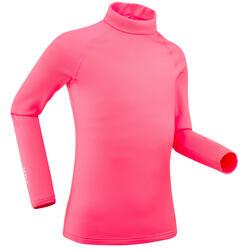 Camisola Térmica de Ski 500 Criança Rosa