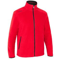 男款節能設計保暖刷毛航海外套100-紅色